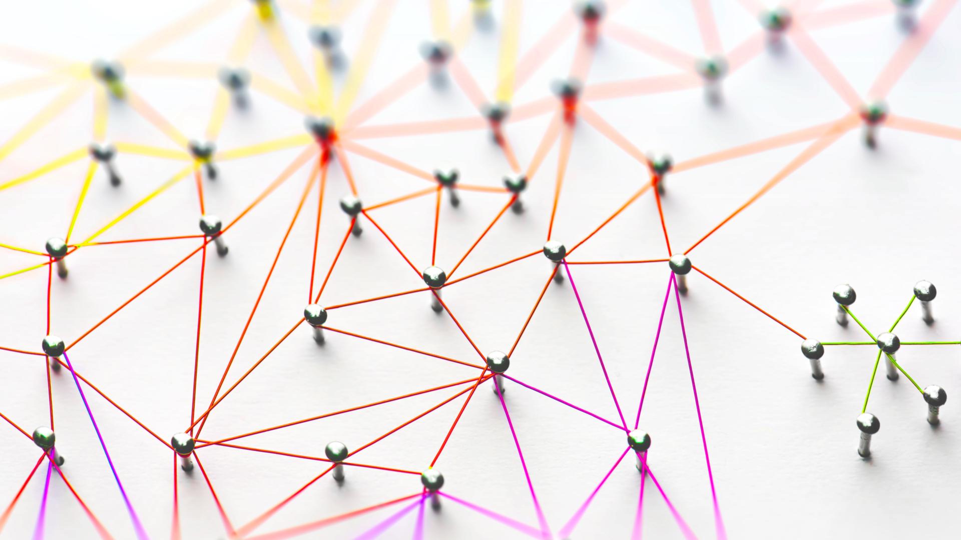 Netzwerk aus Fäden